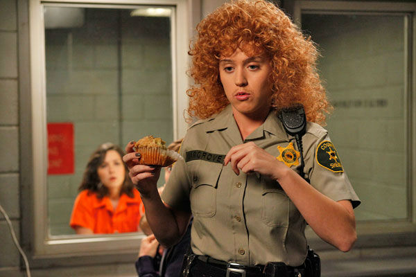 "<div class=""meta image-caption""><div class=""origin-logo origin-image ""><span></span></div><span class=""caption-text"">Katy Perry guest-stars as Rikki, a prison attendant, in the 'Single White Female Role Model' episode of 'Raising Hope' airing Tuesday, March 6 on FOX. (Fox / Greg Gayne)</span></div>"