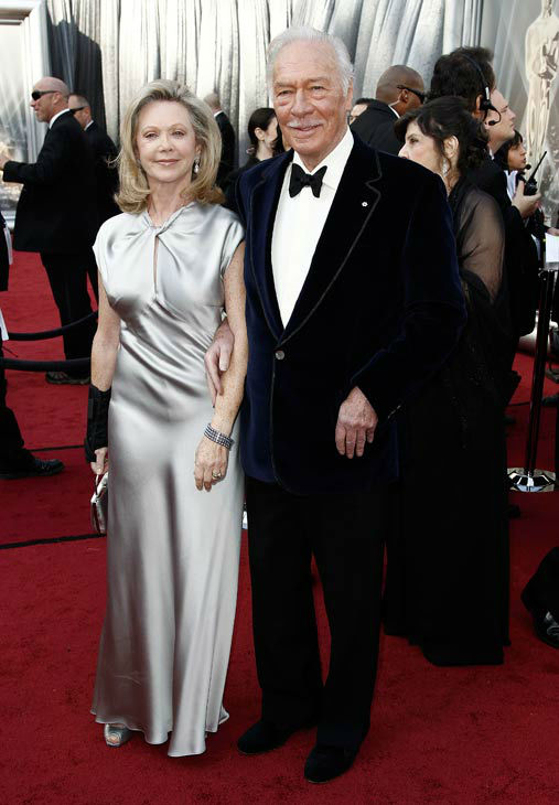 Christopher Plummer, right, and Elaine Taylor arrive before the 84th Academy Awards on Sunday, Feb. 26, 2012, in the Hollywood section of Los Angeles. <span class=meta>(AP Photo&#47; Matt Sayles)</span>