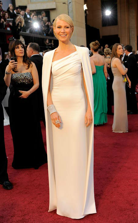 Actress Gwyneth Paltrow arrives before the 84th Academy Awards on Sunday, Feb. 26, 2012, in the Hollywood section of Los Angeles.