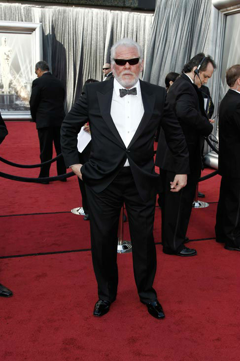 "<div class=""meta ""><span class=""caption-text "">Nick Nolte, nominee for best actor in a supporting role arrives before the 84th Academy Awards on Sunday, Feb. 26, 2012, in the Hollywood section of Los Angeles.  (AP Photo/ Matt Sayles)</span></div>"