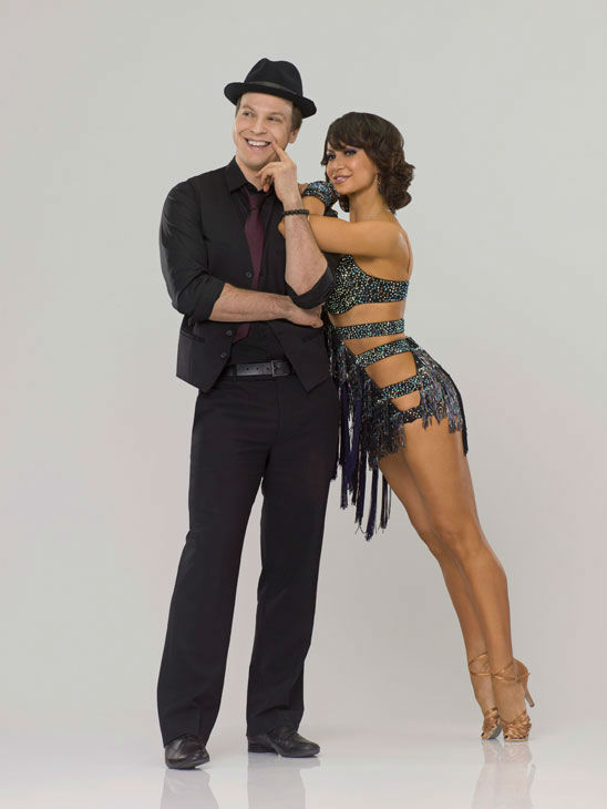 "<div class=""meta ""><span class=""caption-text "">Singer, songwriter and musician Gavin DeGraw appears with last season's champ, Karina Smirnoff in an official cast photo for 'Dancing With The Stars' season 14.  (ABC Photo/ Bob D'Amico)</span></div>"
