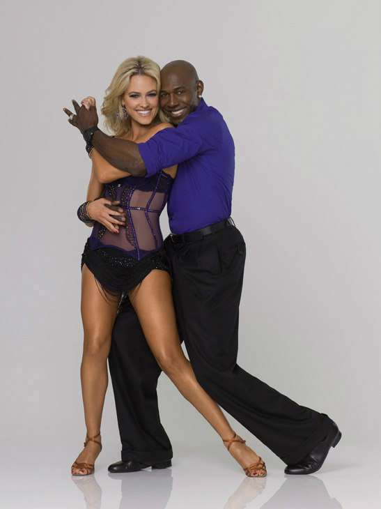 "<div class=""meta ""><span class=""caption-text "">Super Bowl champion Donald Driver appears with Peta Murgatroyd in an official cast photo for 'Dancing With The Stars' season 14.  (ABC Photo/ Bob D'Amico)</span></div>"