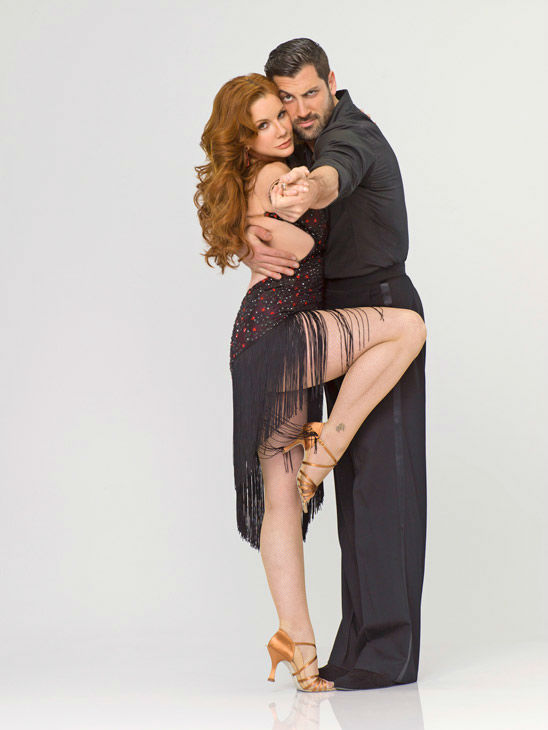 "<div class=""meta ""><span class=""caption-text "">Multi-talented Melissa Gilbert appears with Maksim Chmerkovskiy in an official cast photo for 'Dancing With The Stars' season 14.  (ABC Photo/ Bob D'Amico)</span></div>"