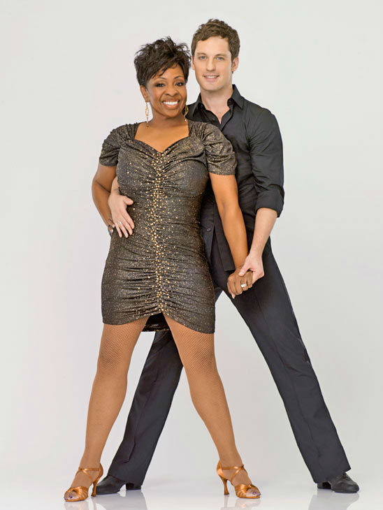 Music legend Gladys Knight appears with Tristan MacManus appears in an official cast photo for 'Dancing