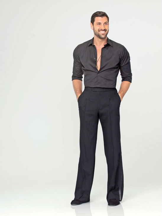 "<div class=""meta ""><span class=""caption-text "">Maksim Chmerkovskiy appears in an official cast photo for 'Dancing With The Stars' season 14.  (ABC Photo/ Bob D'Amico)</span></div>"