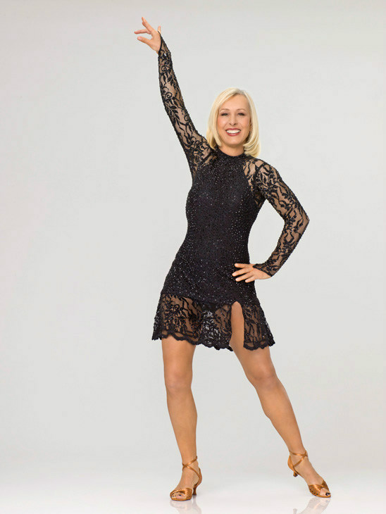 Martina Navratilova appears in an official cast photo for 'Dancing With The St