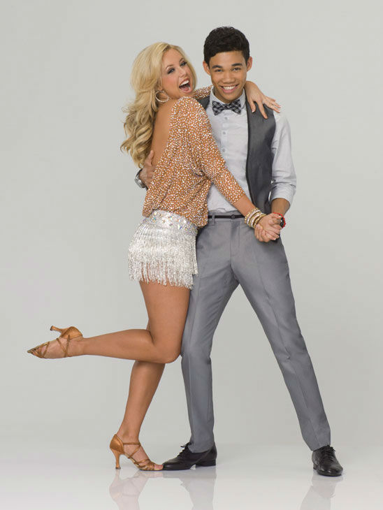 Disney Channel star Roshon Fegan appears with Chelsie Hightower in an official cast photo for '
