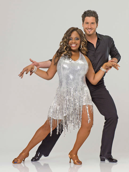 Actress, comedienne and co-host of ABC's hugely popular daytime talk show, 'The View,' Sherri Shepherd appears with Val Chmerkovskiy in an official cast photo for 'Dancing With The Stars' season 14