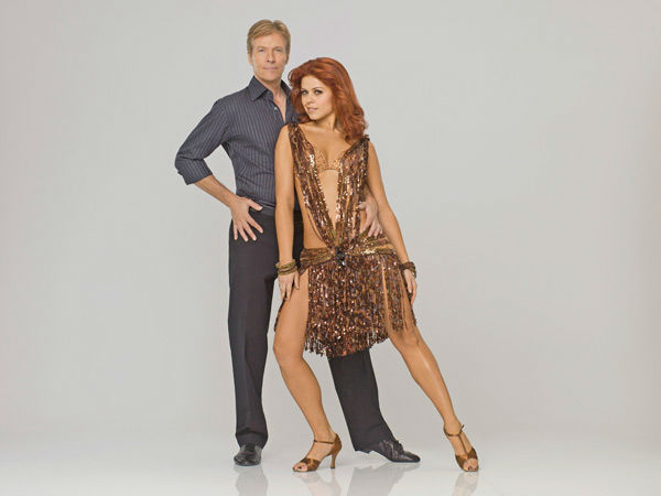 Television and stage actor Jack Wagner appears with Anna Trebunskaya in an official cast photo for 'Dancing With The Stars' season 14.