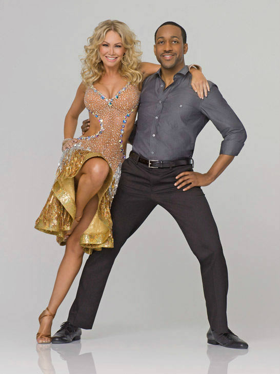Multi-talented actor and emerging screenwriter Jaleel White appears  with two-time champ Kym Johnson in an official cast photo for