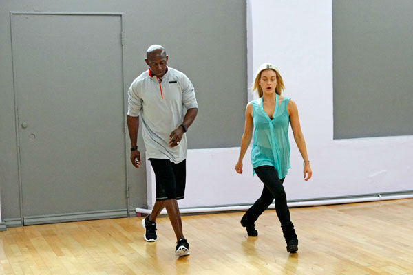 Football star Donald Driver and partner Peta Murgatroyd appear in a rehearsal photo for season 14 of &#39;Dancing With the Stars.&#39;  <span class=meta>(ABC Photo&#47; Rick Rowell)</span>