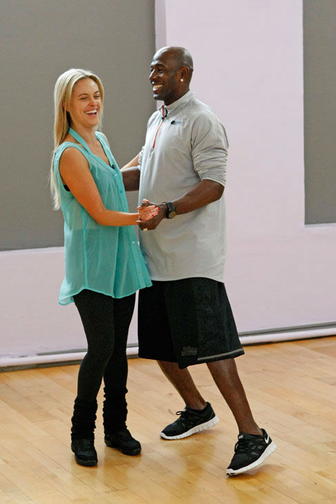 "<div class=""meta ""><span class=""caption-text "">Football star Donald Driver and partner Peta Murgatroyd appear in a rehearsal photo for season 14 of 'Dancing With the Stars.'  (ABC Photo/ Rick Rowell)</span></div>"