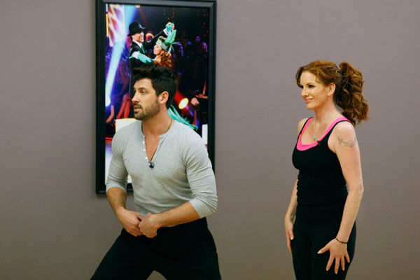Actress Melissa Gilbert and partner Maksim Chmerkovskiy appear in a rehearsal photo for season 14 of &#39;Dancing With the Stars.&#39;  <span class=meta>(ABC Photo&#47; Rick Rowell)</span>