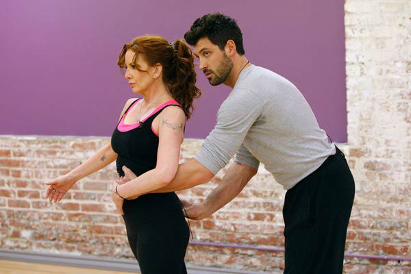 Actress Melissa Gilbert and partner Maksim Chmerkovskiy appear in a rehearsal photo for season 14 of 'Dancing With the Stars.'