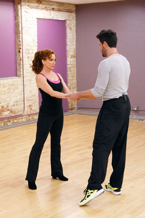 "<div class=""meta image-caption""><div class=""origin-logo origin-image ""><span></span></div><span class=""caption-text"">Actress Melissa Gilbert and partner Maksim Chmerkovskiy appear in a rehearsal photo for season 14 of 'Dancing With the Stars.'  (ABC Photo/ Rick Rowell)</span></div>"