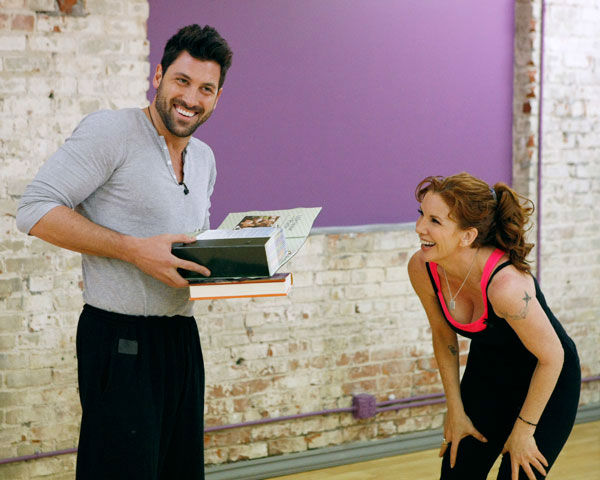 "<div class=""meta ""><span class=""caption-text "">Actress Melissa Gilbert and partner Maksim Chmerkovskiy appear in a rehearsal photo for season 14 of 'Dancing With the Stars.'  (ABC Photo/ Rick Rowell)</span></div>"