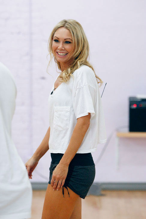 Kym Johnson appears in a rehearsal photo for...