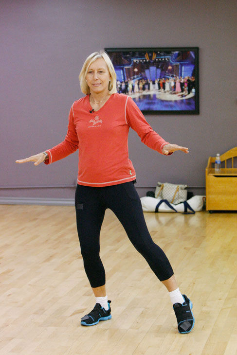 "<div class=""meta ""><span class=""caption-text "">Tennis legend Martina Navratilova appears in a rehearsal photo for season 14 of 'Dancing With the Stars.' (ABC Photo/ Rick Rowell)</span></div>"