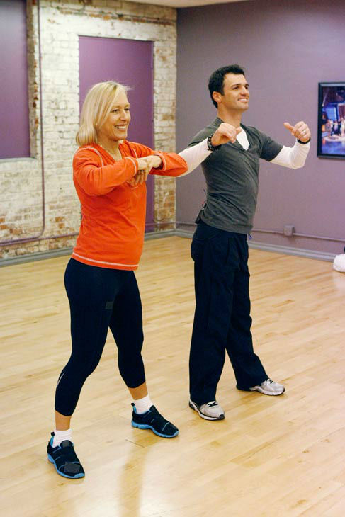Tennis legend Martina Navratilova and partner Tony Dovolani appear in a rehearsal photo for season 14 of &#39;Dancing With the Stars.&#39;  <span class=meta>(ABC Photo&#47; Rick Rowell)</span>
