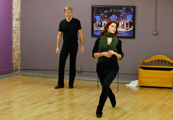 Actor Jack Wagner and partner Anna Trebunskaya appear in a rehearsal photo for season 14 of 'Dancing With the Stars.'