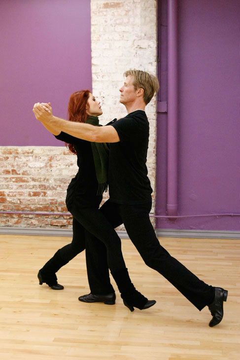 Actor Jack Wagner and partner Anna Trebunskaya...