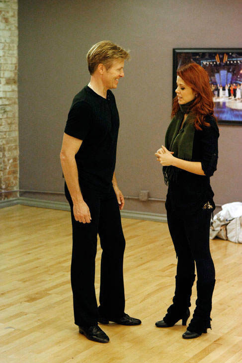 "<div class=""meta image-caption""><div class=""origin-logo origin-image ""><span></span></div><span class=""caption-text"">Actor Jack Wagner and partner Anna Trebunskaya appear in a rehearsal photo for season 14 of 'Dancing With the Stars.'  (ABC Photo/ Rick Rowell)</span></div>"