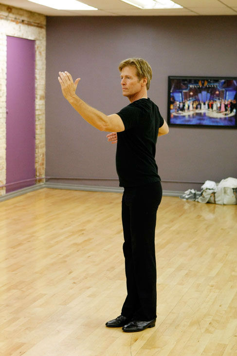 Actor Jack Wagner appears in a rehearsal photo...