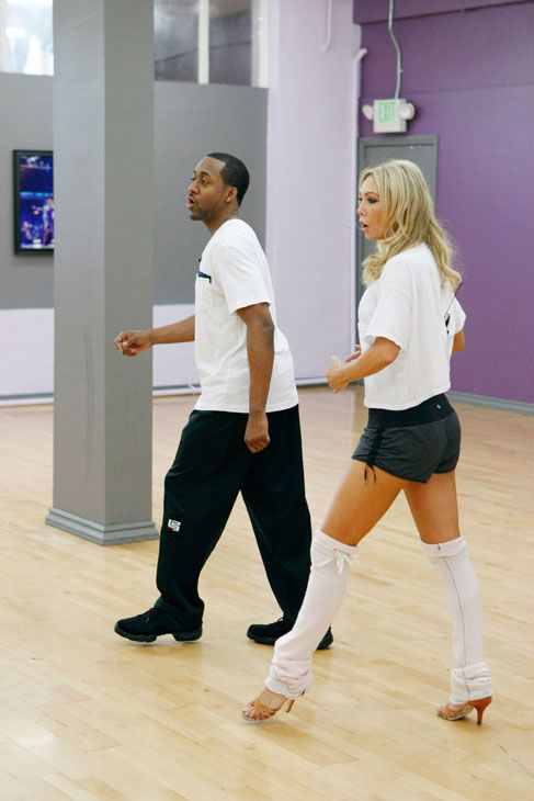 "<div class=""meta image-caption""><div class=""origin-logo origin-image ""><span></span></div><span class=""caption-text"">Actor Jaleel White and partner Kym Johnson appear in a rehearsal photo for season 14 of 'Dancing With the Stars.'  (ABC Photo/ Rick Rowell)</span></div>"