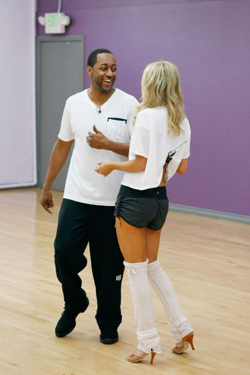 Actor Jaleel White and partner Kym Johnson...