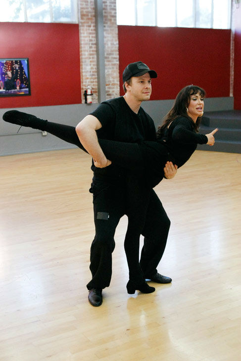 "<div class=""meta ""><span class=""caption-text "">Singer Gavin DeGraw and partner Karina Smirnoff appear in a rehearsal photo for season 14 of 'Dancing With the Stars.' (ABC Photo/Rick Rowell)</span></div>"