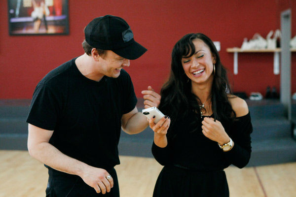 Singer Gavin DeGraw and partner Karina Smirnoff appear in a rehearsal photo for season 14 of 'Dancing With the Stars.'