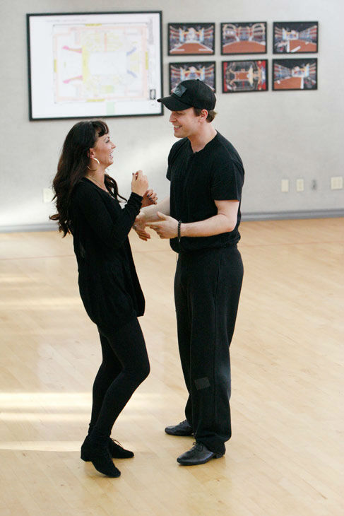 "<div class=""meta image-caption""><div class=""origin-logo origin-image ""><span></span></div><span class=""caption-text"">Singer Gavin DeGraw and partner Karina Smirnoff appear in a rehearsal photo for season 14 of 'Dancing With the Stars.'  (ABC Photo/ Rick Rowell)</span></div>"