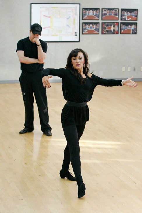 "<div class=""meta ""><span class=""caption-text "">Singer Gavin DeGraw and partner Karina Smirnoff appear in a rehearsal photo for season 14 of 'Dancing With the Stars.'  (ABC Photo/ Rick Rowell)</span></div>"