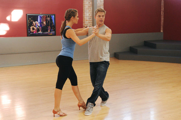 TV host Maria Menounos and partner Derek Hough...