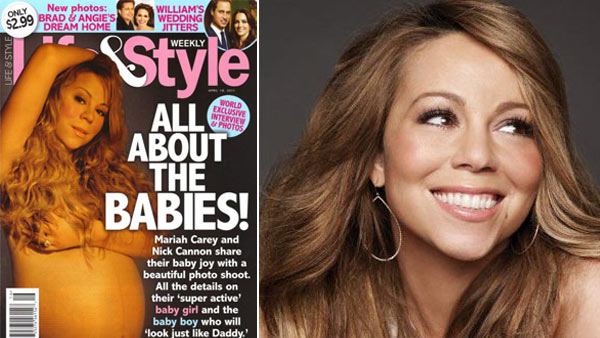 Mariah Carey appears in a photo posted on her Facebook page on May 8, 2010. / Mariah Carey appears on the April 8, 2011 cover of Life & Style magazine.