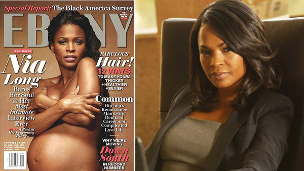 Nia Long appears in a still from 'Chase.' / Nia Long appears on the November 2011 edition of Ebony magazine.