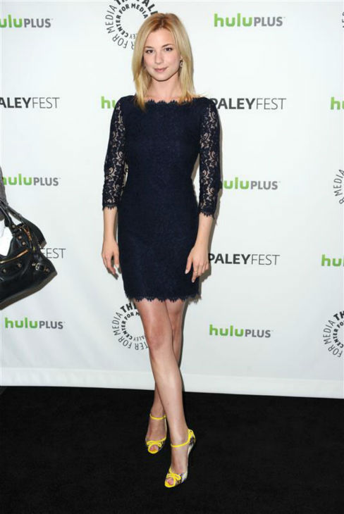 Emily VanCamp of ABC's 'Revenge' appears at a PaleyFest event honoring the show at the Saban Theatre in Los Angeles on March 11, 2012.