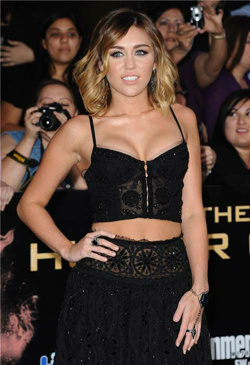 "<div class=""meta ""><span class=""caption-text "">Miley Cyrus appears at 'The Hunger Games' premiere in Los Angeles, California on March 12, 2012.  (Sara De Boer / startraksphoto.com)</span></div>"