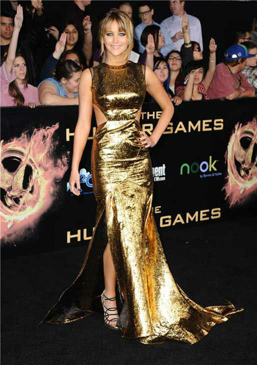 Jennifer Lawrence appears at the Hunger Games Los Angeles premiere on March 12, 2012. <span class=meta>(Sara De Boer&#47;startraksphoto.com)</span>
