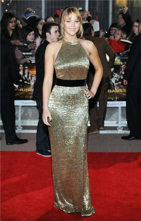 Jennifer Lawrence appears at the European premiere of &#39;The Hunger Games&#39; on March 14, 2012. <span class=meta>(CONTRAST&#47;startraksphoto.com)</span>