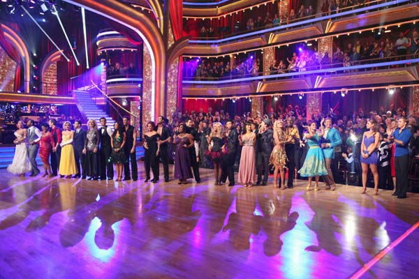 The cast appears in a still from the season premiere of 'Dancing With The Stars,' which aired on March 19, 2012.