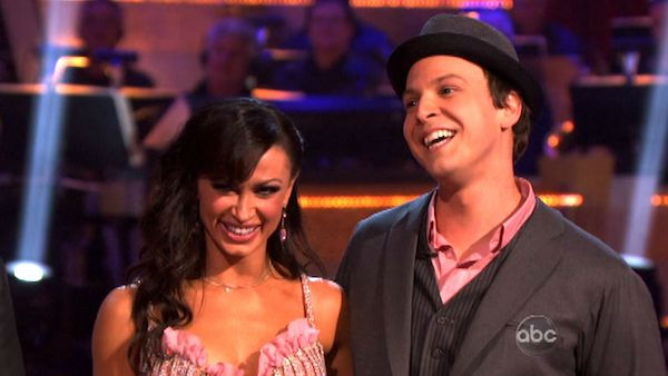 Singer Gavin DeGraw  and his partner Karina Smirnoff received 20 out of 30 points from the judges for their foxtrot on the season premiere of 'Dancing With The Stars,' which aired on March 19, 2012.