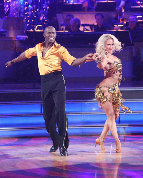 Football star Donald Driver and his partner Peta Murgatroyd received 21 out of 30 points from the judges for their cha cha on the season premiere of 'Dancing With The Stars,' which aired on March 19, 2012.