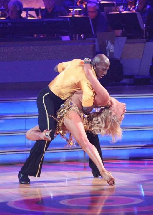 Football star Donald Driver and his partner Peta Murgatroyd received 21 out of 30 points from the judges for their cha cha on the season premiere of &#39;Dancing With The Stars,&#39; which aired on March 19, 2012. <span class=meta>(ABC Photo&#47; Adam Taylor)</span>