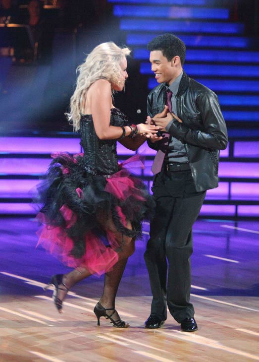 "<div class=""meta image-caption""><div class=""origin-logo origin-image ""><span></span></div><span class=""caption-text"">Disney Channel star Roshon Fegan and his partner Chelsie Hightower received 23 out of 30 points from the judges for their cha cha on the season premiere of 'Dancing With The Stars,' which aired on March 19, 2012. (ABC Photo/ Adam Taylor)</span></div>"