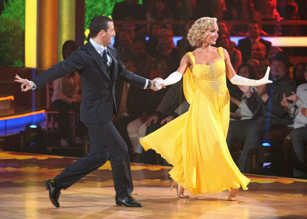 Classical singer Katherine Jenkins and her partner Mark Ballas received 26 out of 30 points from the judges for their foxtrot on the season premiere of &#39;Dancing With The Stars,&#39; which aired on March 19, 2012. <span class=meta>(ABC Photo&#47; Adam Taylor)</span>