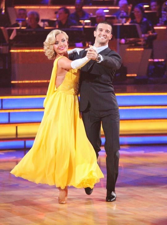"<div class=""meta image-caption""><div class=""origin-logo origin-image ""><span></span></div><span class=""caption-text"">Classical singer Katherine Jenkins and her partner Mark Ballas received 26 out of 30 points from the judges for their foxtrot on the season premiere of 'Dancing With The Stars,' which aired on March 19, 2012. (ABC Photo/ Adam Taylor)</span></div>"