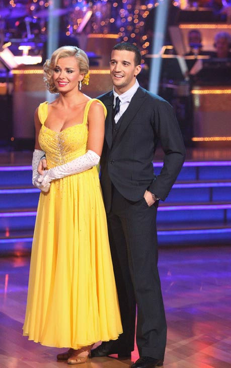 Classical singer Katherine Jenkins and her partner Mark Ballas received 26 out of 30 points from the judges for their foxtrot on the season premiere of 'Dancing With The Stars,' which aired on March 19, 2012.