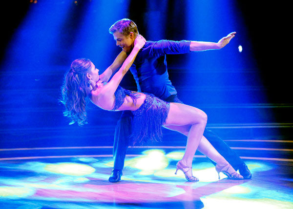 "<div class=""meta image-caption""><div class=""origin-logo origin-image ""><span></span></div><span class=""caption-text"">TV personality Maria Menounos and her partner Derek Hough received 21 out of 30 points from the judges for their cha cha on the season premiere of 'Dancing With The Stars,' which aired on March 19, 2012. (ABC Photo/ Adam Taylor)</span></div>"
