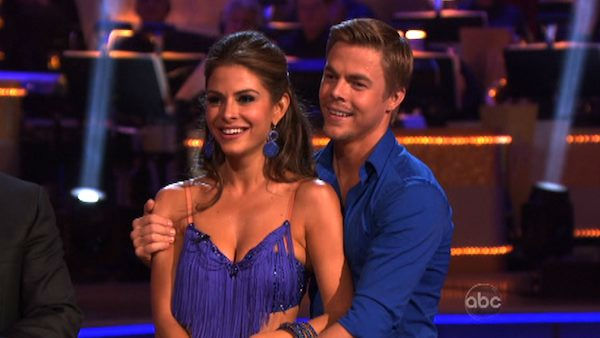 TV personality Maria Menounos and her partner Derek Hough received 21 out of 30 points from the judges for their cha cha on the season premiere of &#39;Dancing With The Stars,&#39; which aired on March 19, 2012. <span class=meta>(ABC Photo&#47; Adam Taylor)</span>